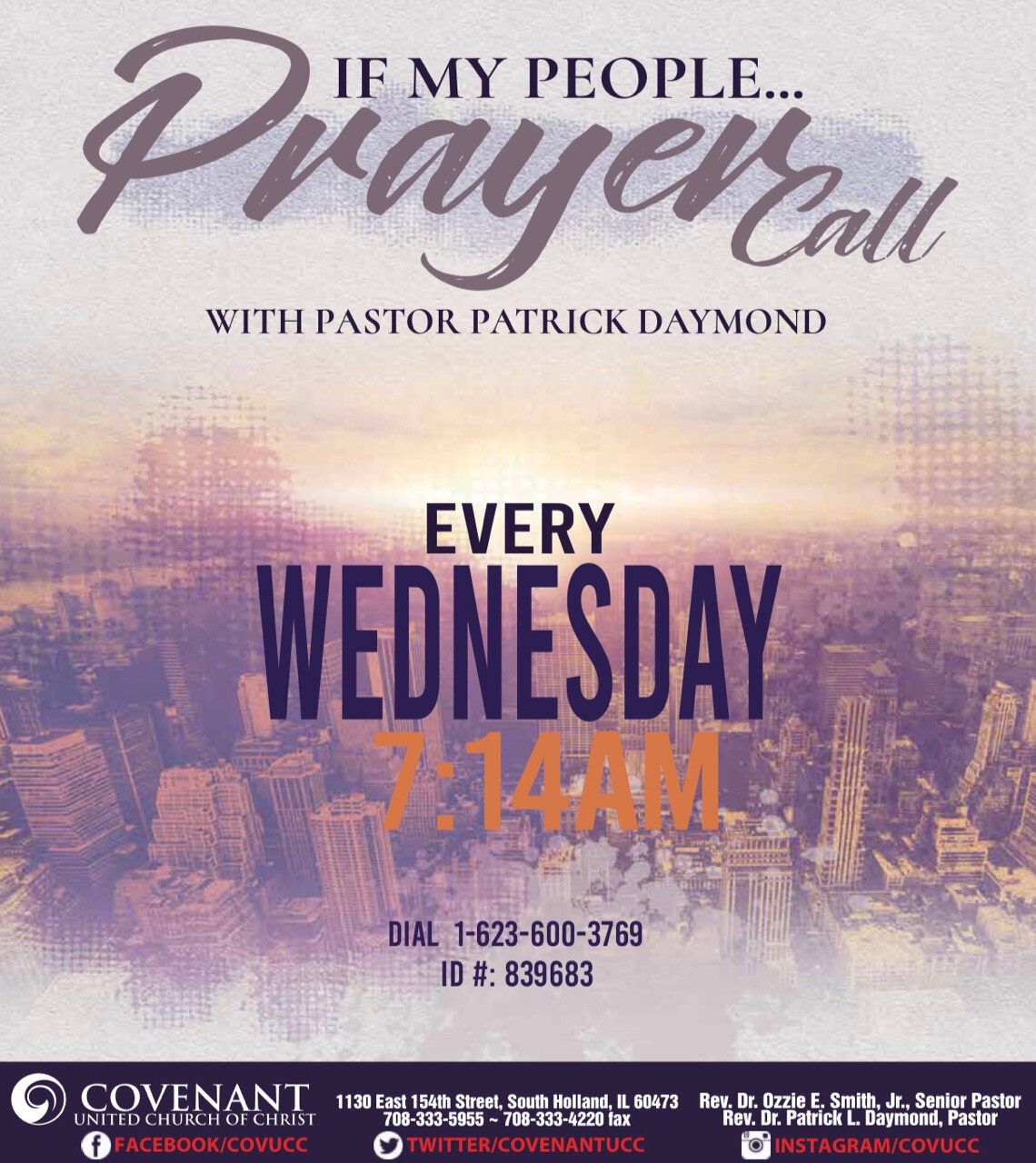 Prayer Call Wednesdays
