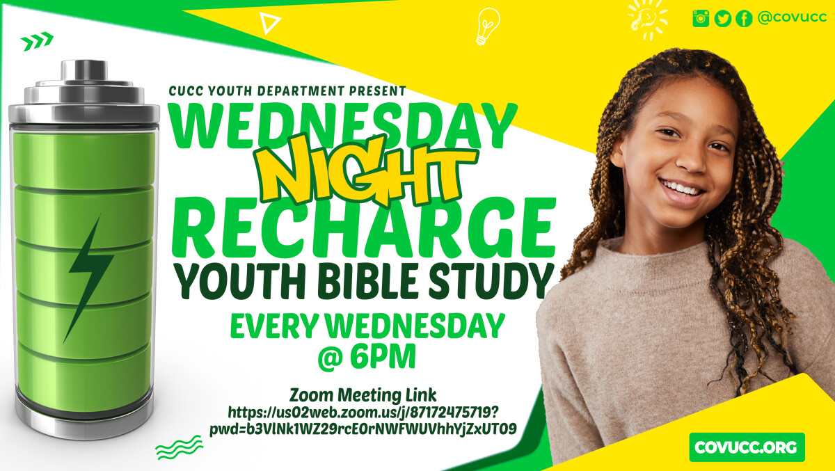 Wednesday Night Recharge (Virtual Youth Bible Study)